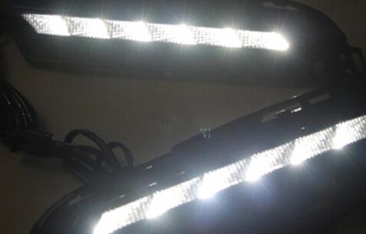 AL 適用: フォルクスワーゲン/VOLKSWAGEN ゴルフ 13-16 LED DRL フォグ ランプ デイタイム ランニング 高光度 ガイド ライト 35W ホワイト 5500K AL-HH-0830