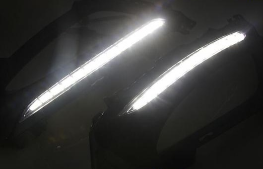 AL 適用: 起亜 K5 11-13 LED DRL フォグ ランプ デイタイム ランニング 高光度 ガイド ライト 35W ホワイト 5500K AL-HH-0832