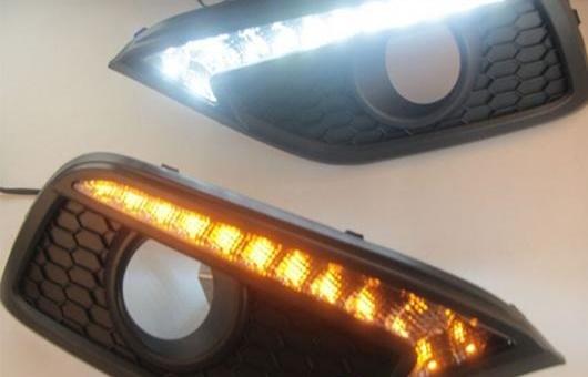 AL 適用: ホンダ CR-V 2012-2014 LED DRL フォグ ランプ デイタイム ランニング 高光度 ガイド ライト 35W ホワイト・イエロー 5500K AL-HH-0835