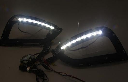 AL 適用: ヒュンダイ/現代/HYUNDAI IX35 2014-2017 LED DRL フォグ ランプ デイタイム ランニング 高光度 ガイド ライト 35W ホワイト 5500K AL-HH-0845