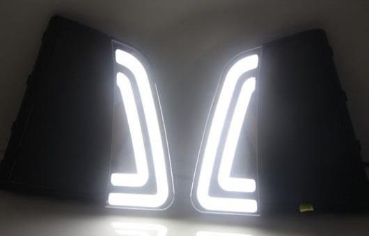 AL LED DRL フォグライト デイタイムランニングライト 適用: ヒュンダイ/現代/HYUNDAI IX25 2014 2ピース PER セット 35W ホワイト 5500K AL-HH-0853