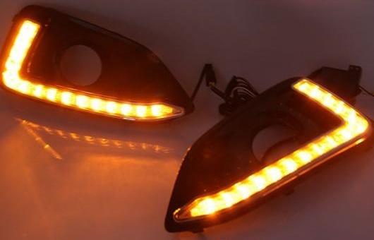 AL 適用: シボレー/CHEVROLET マリブ 16 LED DRL フォグ ランプ デイタイム ランニング 高光度 ガイド ライト 35W ホワイト・イエロー 5500K AL-HH-0857