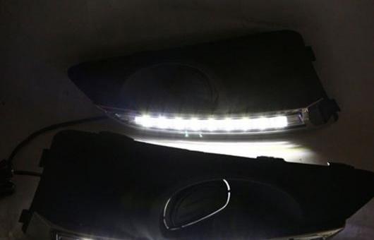 AL 適用: シボレー/CHEVROLET アベオ 11-13 LED DRL フォグ ランプ デイタイム ランニング 高光度 ガイド ライト 35W ホワイト 5500K AL-HH-0859