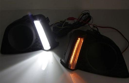 AL 適用: ホンダ フィット 2014 LED DRL フォグ ランプ デイタイム ランニング 高光度 ガイド ライト 35W ホワイト・イエロー 5500K AL-HH-0872