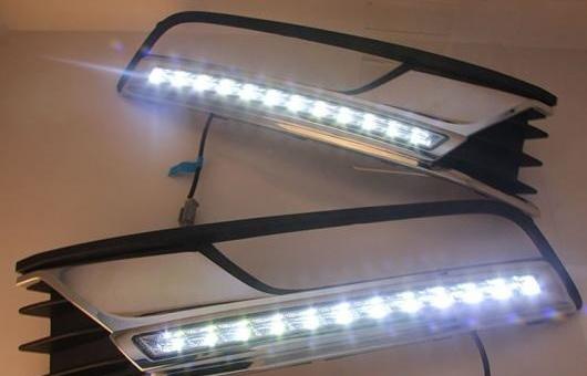 AL 適用: フォルクスワーゲン/VOLKSWAGEN MAGOTAN13-16 LED DRL フォグ ランプ デイタイム ランニング 高光度 ガイド ライト 35W ホワイト 5500K AL-HH-0880