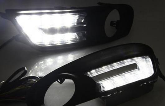 AL 適用: 日産 ティーダ 12-15 LED DRL フォグ ランプ デイタイム ランニング 高光度 ガイド ライト 35W ホワイト 5500K AL-HH-0884