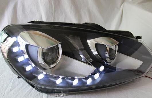 AL ヘッドランプ 適用: GOLF6 ゴルフ MK6 GTI 2008-2012 LED ヘッドライト DRL H7/D2H HID キセノン BI レンズ 4300K~8000K 35W・55W AL-HH-0899