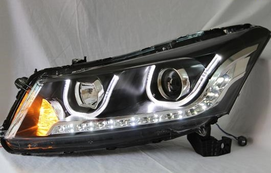 AL ヘッドランプ 適用: ホンダ アコード LED ヘッドライト DRL H7/D2H HID キセノン BI レンズ 4300K~8000K 35W・55W AL-HH-0901