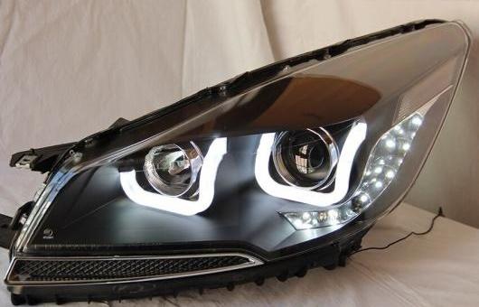 AL 適用: フォード/FORD クーガ ヘッドライト 2013-16 エスケープ LED BI キセノン レンズ ロービーム ヘッドランプ ダブル U 4300K~8000K 35W・55W AL-HH-0910