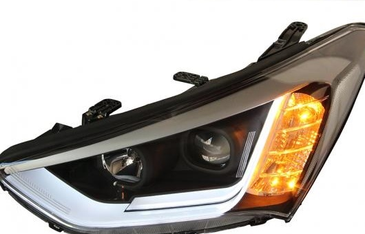 AL ヘッドランプ 適用: ヒュンダイ/現代/HYUNDAI サンタフェ 2013-2015 LED ヘッドライト DRL H7/D2H HID キセノン BI レンズ 4300K~8000K 35W・55W AL-HH-0920