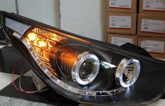 AL ヘッドランプ 適用: ヒュンダイ/現代/HYUNDAI IX35 2010-2013 LED ヘッドライト DRL H7/D2H HID キセノン BI レンズ 4300K~8000K 35W・55W AL-HH-0921