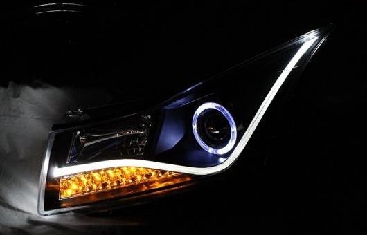 AL ヘッドランプ 適用: シボレー/CHEVROLET クルーズ 2009-2015 LED ヘッドライト DRL H7/D2H HID キセノン BI レンズ 4300K~8000K 35W・55W AL-HH-0923
