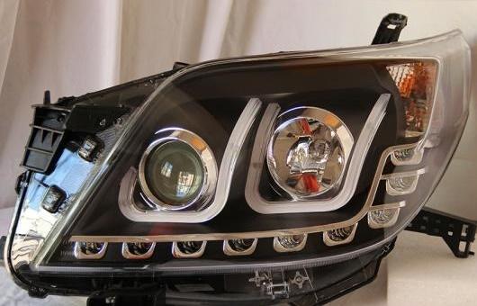 AL ヘッドランプ 適用: トヨタ プラド FJ150 2010-2014 LED ヘッドライト DRL H7/D2H HID キセノン BI レンズ 4300K~8000K 35W・55W AL-HH-0927