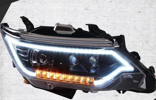AL ヘッドライト 適用: トヨタ カムリ 2015 LED ヘッドランプ デイタイムランニングライト DRL バイキセノン HID 4300K~8000K 35W・55W AL-HH-0932