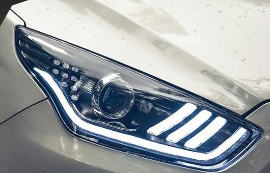 AL ヘッドライト 適用: フォード/FORD エスコート 2015 LED ヘッドランプ デイタイムランニングライト DRL バイキセノン HID 4300K~8000K 35W・55W AL-HH-0938