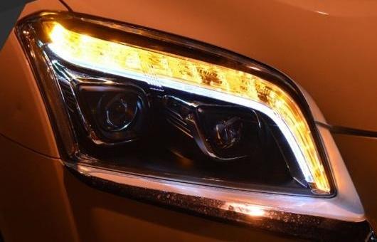 AL ヘッドライト 適用: シボレー/CHEVROLET トラック 2014-2016 LED ヘッドランプ デイタイムランニングライト DRL バイキセノン HID 4300K~8000K 35W・55W AL-HH-0957