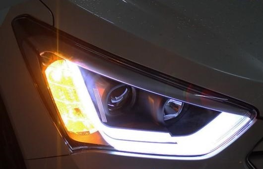 AL ヘッドライト 適用: ヒュンダイ/現代/HYUNDAI IX45 2013-15 LED ヘッドランプ デイタイムランニングライト DRL バイキセノン HID 4300K~8000K 35W・55W AL-HH-0960