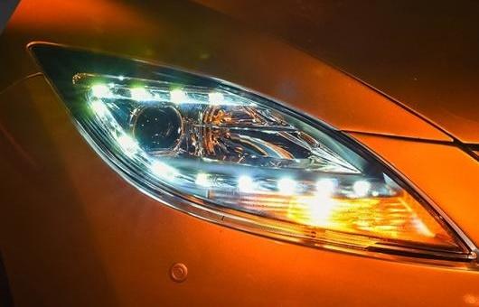 AL ヘッドライト 適用: マツダ 6 2009-2015 LED ヘッドランプ デイタイムランニングライト DRL バイキセノン HID 4300K~8000K 35W・55W AL-HH-0965