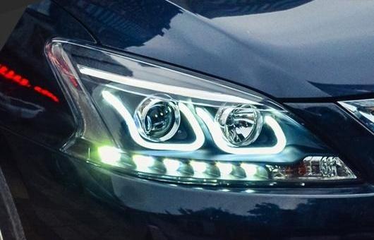 AL ヘッドライト 適用: 日産 シルフ 2012-2015 LED ヘッドランプ デイタイムランニングライト DRL バイキセノン HID 4300K~8000K 35W・55W AL-HH-0982