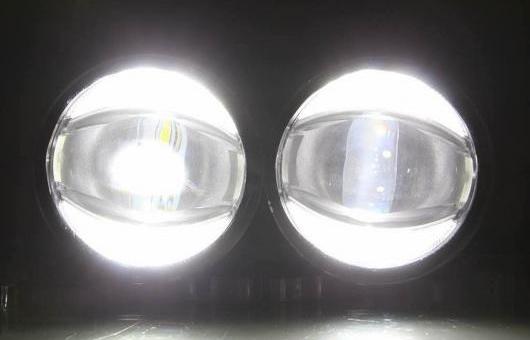 AL デイタイムランニングライト 2013 適用: 三菱 L200 フォグ ライト オート エンジェル アイ フォグランプ LED DRL ハイ&ロー ビーム 6000K 35W AL-HH-1065
