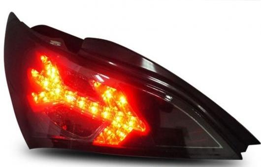AL テール ランプ 適用: ロヘンス クーペ LED ライト 2009-2012 アルティス リア DRL + ブレーキ パーク シグナル ストップ レッド AL-HH-1095