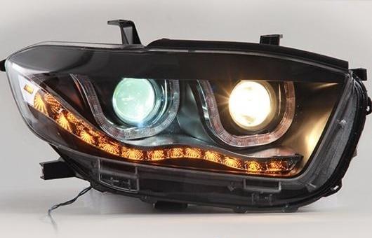 AL LED ヘッドランプ 適用: トヨタ ハイランダー ヘッドライト 2009-2011 DRL H7 HID Q5 バイキセノン レンズ ロー ビーム 4300K~8000K 35W・55W AL-HH-1098