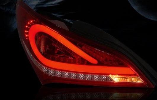 AL 適用: ヒュンダイ/現代/HYUNDAI ROHENS-COUPE LED テールライト 2009-2015 クーペ テール ライト リア ランプ DRL + ブレーキ パーク シグナル レッド AL-HH-1099