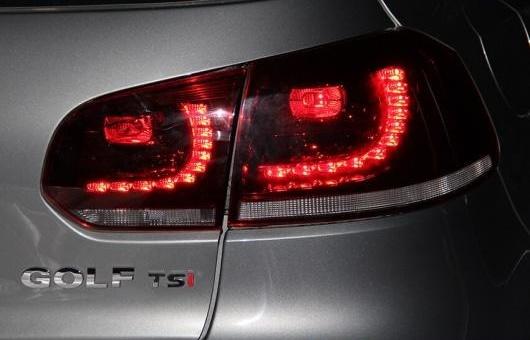 AL 適用: テール ライト 2010-2012 VW ゴルフ 6 GTI LED リア フォグ ランプ DRL ブレーキ + パーク シグナル レッド AL-HH-1121