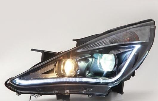 AL LED ヘッドランプ 適用: ヒュンダイ/現代/HYUNDAI ソナタ8 ヘッドライト 2011-14 ソナタ 8 DRL H7 HID Q5 バイキセノン レンズ ロー BEA 4300K~8000K 35W・55W AL-HH-1153