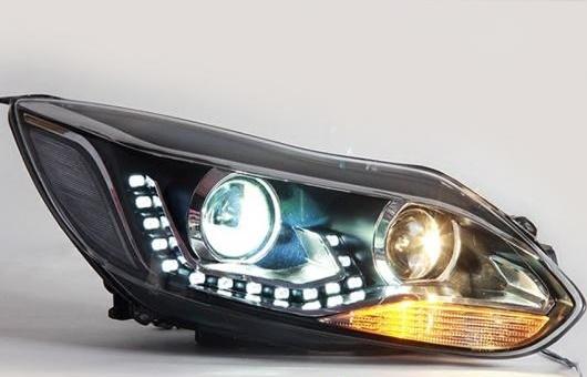 AL ヘッドランプ 適用: フォード/FORD フォーカス 12-15 LED ヘッドライト DRL デイタイムランニングライト バイキセノン HID 4300K~8000K 35W・55W AL-HH-1156