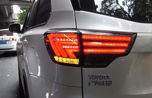 AL 適用: トヨタ ハイランダー LED テールライト 2015 テール ライト リア ランプ DRL + ブレーキ パーク シグナル レッド AL-HH-1178
