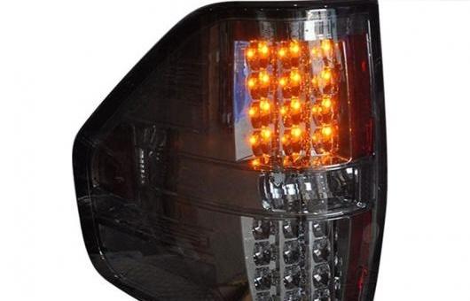 AL テール ランプ 適用: フォード/FORD F150 スモーク ブラック LED ライト 08-16 アルティス リア DRL + ブレーキ パーク シグナル ストップ LAM レッド AL-HH-1197