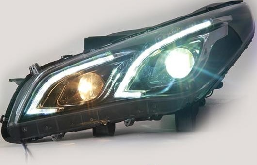 AL LED ヘッドランプ 適用: ヒュンダイ/現代/HYUNDAI ソナタ 9TH ヘッドライト 2015 9 DRL H7 HID Q5 バイキセノン レンズ ロー BEA 4300K~8000K 35W・55W AL-HH-1200