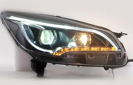 AL LED ヘッドランプ 適用: フォード/FORD クーガ ヘッドライト 2013-2015 DRL H7 HID Q5 バイキセノン レンズ ロー ビーム 4300K~8000K 35W・55W AL-HH-1203