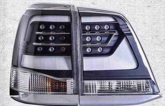 AL 適用: トヨタ ランドクルーザー 7 テールライト 2008-2015 LED テール ランプ リア DRL + ブレーキ パーク シグナル ライト レッド AL-HH-1239