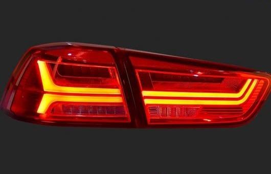 送料無料 AL 適用: 三菱 ランサーEX メーカー再生品 テールライト 2009-2016 LED テール ランプ DRL AL-HH-1241 + ライト パーク ブレーキ シグナル リア レッド 人気激安