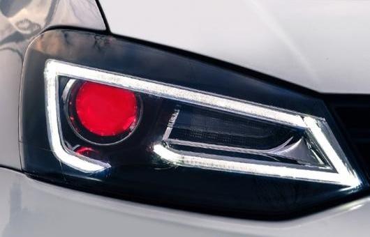 AL 適用: VW フォルクスワーゲン/VOLKSWAGEN ポロ ヘッドライト 2011-2016 A5 スタイル LED DRL レンズ ダブル ビーム H7 HID キセノン BI キセノン 4300K~キセノン 8000K 35W・55W AL-HH-1250