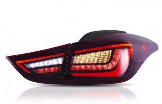 AL 適用: ヒュンダイ/現代/HYUNDAI エラントラ テールライト 2012-2017 LED テールランプ リアライト DRL + ブレーキ パーク ダイナミック ターンシグナル レッド AL-HH-1256