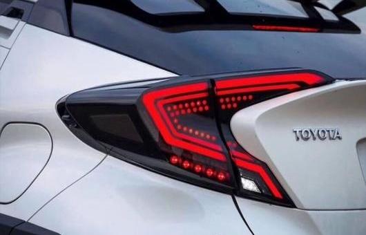 AL 適用: トヨタ CH-R LED テールライト 2018-2019 テール ライト リア ランプ DRL + ブレーキ パーク シグナル ダイナミック ターン 35W ブラック・レッド AL-HH-1274