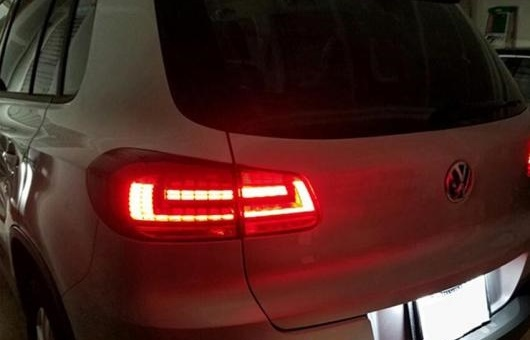 AL 適用: VW フォルクスワーゲン/VOLKSWAGEN ティグアン テール ライト 2013-2015 フォルクスワーゲン LED リア ランプ DRL + ブレーキ パーク シグナル レッド AL-HH-1296