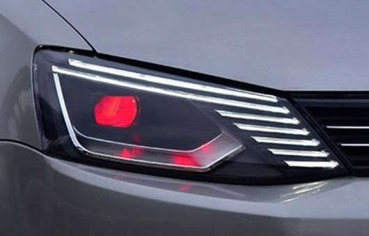 AL 適用: VW フォルクスワーゲン/VOLKSWAGEN ジェッタ ヘッドライト 2011-2018 MK6 LED ダイナミック シグナル DRL HID BI キセノン 35W・55W AL-HH-1299