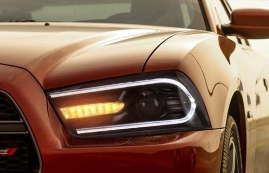 AL 適用: ダッジ/DODGE チャージャー LED ヘッドライト 2011-2014 DRL + ダイナミック ターンシグナル バイキセノン 4300K ホワイト イエロー~8000K ホワイト ブルー 35W・55W AL-HH-1307