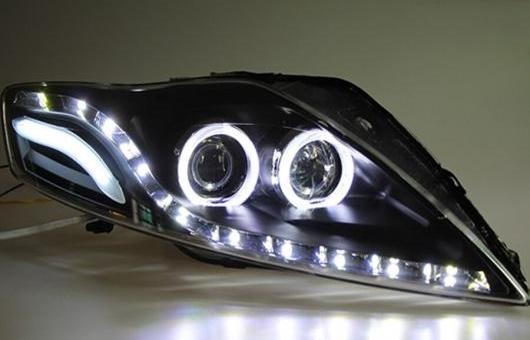 AL スタイリング ヘッドランプ 適用: フォード/FORD モンデオ LED ヘッドライト 2007-2012 DRL H7 D2H HID オプション エンジェル アイ BI キセノン ビーム 4300K~8000K 35W・55W AL-HH-1346