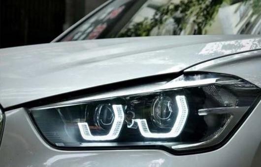 AL LED ヘッドランプ 適用: BMW/ビーエムダブリュー X1 ヘッドライト 2016-2019 フル アングル アイ DRL H7 ロー ビーム 高さ オール 6000K コールド ホワイト 35W AL-HH-1372
