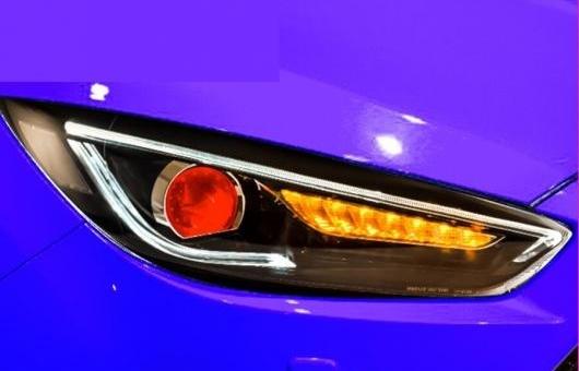 AL 適用: フォード/FORD フォーカス ヘッドライト 2015-2018 ヘッドランプ LED DRL ロー ビーム HID ハイ 4300K ホワイト イエロー~8000K ホワイト ブルー 35W・55W AL-HH-1374