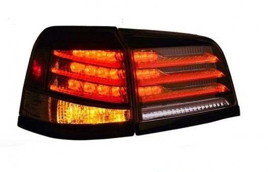 AL 適用: レクサス LX570 2009-2015 テールライト LED テール ライト リア ランプ DRL + ブレーキ リバース イエロー チューニング 35W ブラック AL-HH-1376