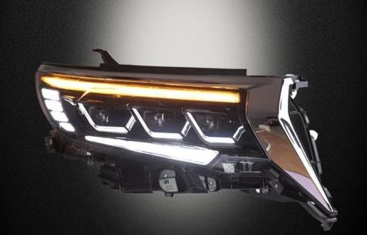 AL 適用: トヨタ プラド フル ヘッドライト 2018 LED ヘッドランプ DRL ロー ハイ ビーム オール BI-LED 6000K コールド ホワイト 35W AL-HH-1382