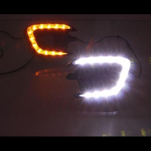 AL 2ピース 適用: 三菱 モンテロ パジェロ スポーツ 2013 2014 2015 イエロー ターンシグナル 防水 12V DRL ランプ LED デイタイムランニングライト ホワイト イエロー AL-HH-1393