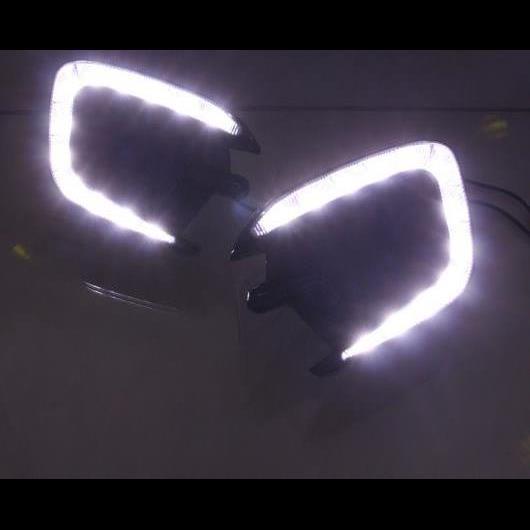 AL 2ピース 適用: 三菱 モンテロ パジェロ スポーツ 2013 2014 2015 イエロー ターンシグナル 防水 12V DRL ランプ LED デイタイムランニングライト ホワイトのみ AL-HH-1393