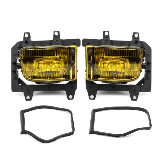 AL 2ピース バンパー フロント クリスタル クリア フォグライト ランプ ケース カバー デイタイム ランニング ライト ランプ 適用: BMW E30 318I 318IS 325I 325IS イエロー AL-HH-1439